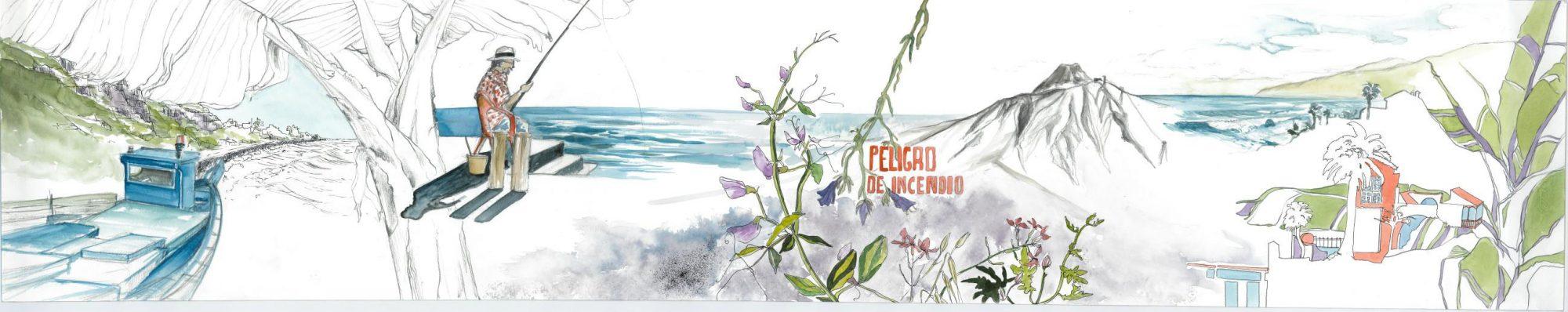 Peligro de Incendio, 2013 Aquarell, 150x25 cm