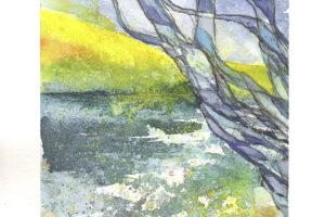 Rapsodie 3 am Meer (30x40 cm Aquarell Kerstin Mempel)