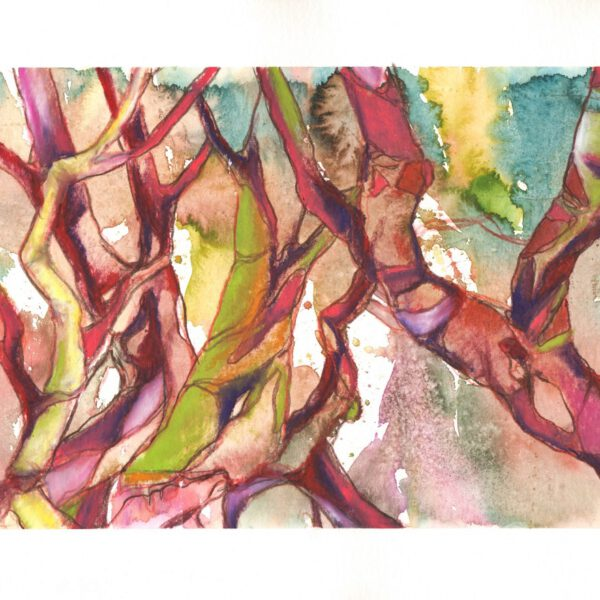 Bäume (3) Lila-Magenta